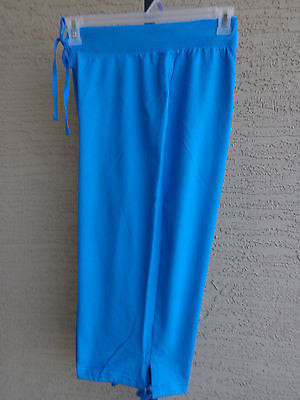 bd5d40fb46c1 New Just My Size Cotton Blend French Terry Jersey Kinit Pull On Capris 1X  blue