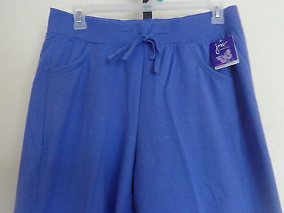 fe69c4fef30 NWT JUST MY SIZE FRENCH TERRY JERSEY KNIT PANTS WITH POCKETS 1X Iris ...