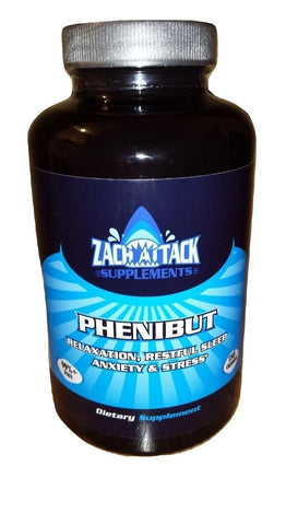 Buy Phenibut 180 Capsules x 250mg Each | 98%+ Pure - Zach Attack Supplements