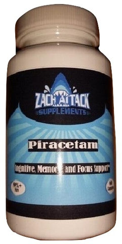 ZAS Piracetam 60 Capsules @800mg | 99.5% Pure - Zach Attack Supplements