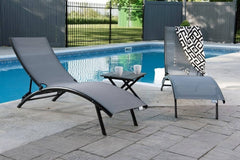 Vivere's Midtown Lounger 3 Pc Set - Aluminum - Lounger | Hamikk.com