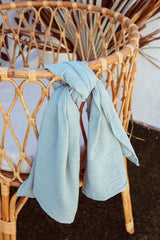 Duck egg blue linen cotton wrap