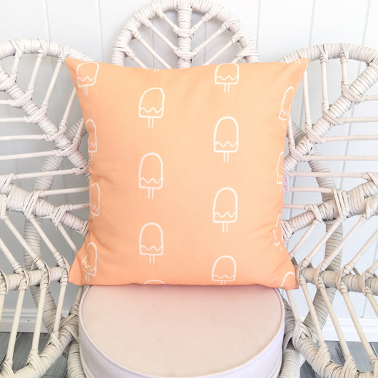 Peach popsicle cushion cover