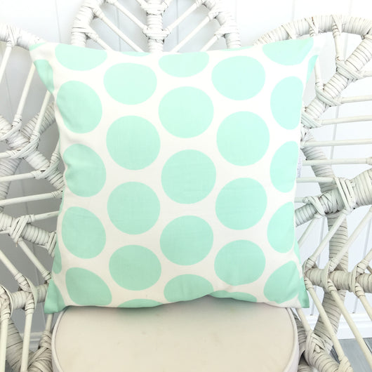 Mint jumbo dot cushion cover