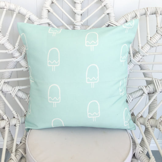 mint popsicle cushion cover