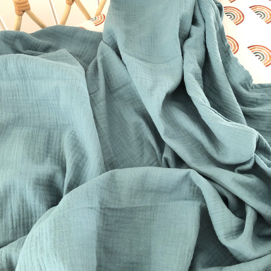Duck egg blue double gauze cotton wrap
