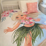 Surfer girl double quilt cover