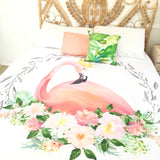 Flamingo double quilt cover