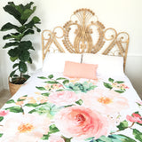 Garden floral king quilt cover
