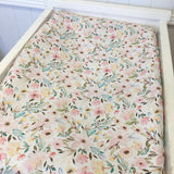 Pastel floral change table cover/ bassinet sheet