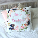 Hello beautiful european cushion cover