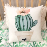 Cactus flower cushion cover