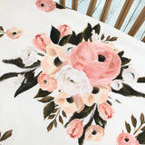 Isla floral fitted cot sheet