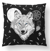 Wolf floor cushion