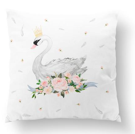 Swan european cushion cover