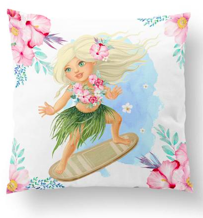Surfer girl european cushion cover