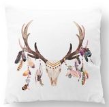 Stag skull european cushion cover
