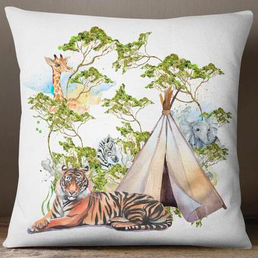 Jungle european cushion cover