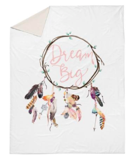 Dream big feather dreamcatcher double quilt cover