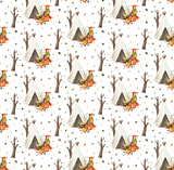 Forest fox fitted cot sheet