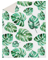 Monstera leaf double quilt cover