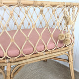 Vintage blush 100% linen bassinet sheet/ change table cover