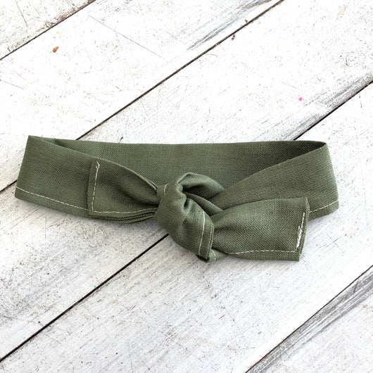 Forest green topknot headbands