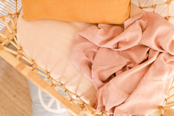 Dusty blush double gauze cotton wrap