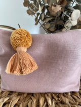 Musk linen nappy clutch