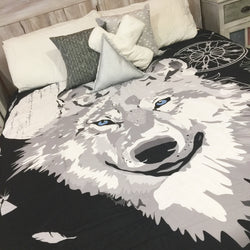 Wolf king quilt cover