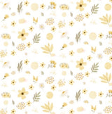 Lemon floral fitted cot sheet