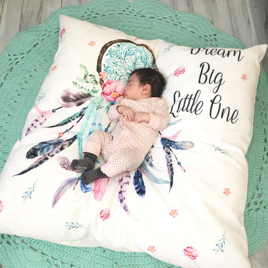 Dream big little one dreamcatcher floor cushion