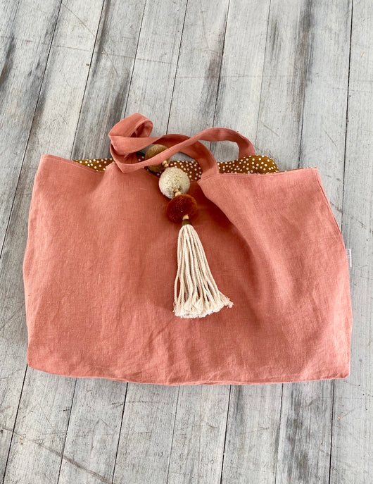 Terracotta nappy/beach bag