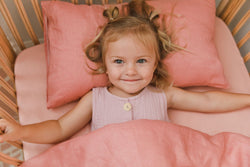 Blossom 100% linen toddler pillowcase