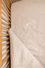 Oatmeal 100% stone wash linen cot sheet