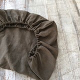 Stonewash khaki 100% linen bassinet/ change table cover