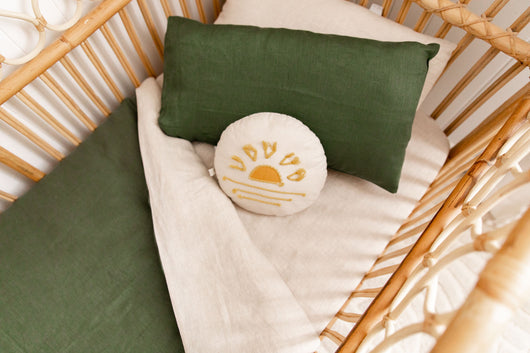 Forest green toddler pillowcase
