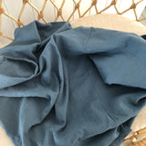 Steel blue double gauze cotton wrap