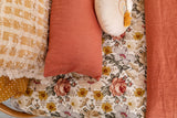 Stonewash terracotta linen toddler pillowcase