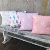Pastel triangle. Fairy floss, lilac mermaid, pink mermaid cushion covers