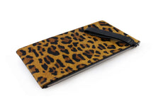 Edith Zip Clutch - Leopard