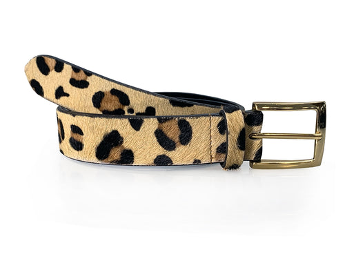Rosa - Leopard Print Leather Jeans Belt