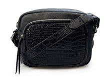 Candace Black Croc - Crossbody / Belt Bag
