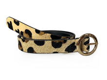 Lulu - Leopard Print Skinny Leather Belt