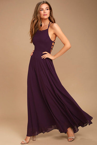 Strappy to be Here Purple Maxi Dress - Lulus