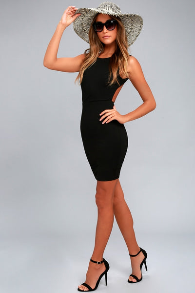Hey Honey Black Backless Bodycon Dress - Lulus