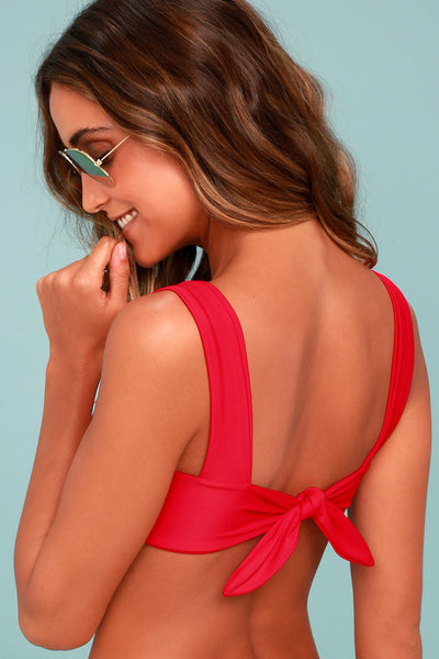 KAOHS Swim Hampton Red Bikini Top - Lulus