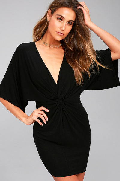 New Take Black Short Sleeve Dress - Lulus