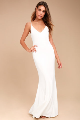Infinite Glory White Maxi Dress - Lulus