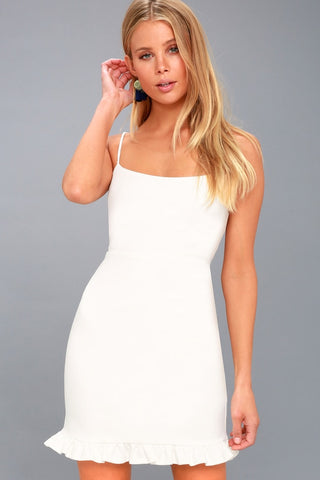 Spoonful of Sass White Bodycon Mini Dress - Lulus